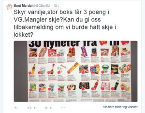 Hentet fra Twitter: @QBentM – som igjen har hentet denne fra VG!