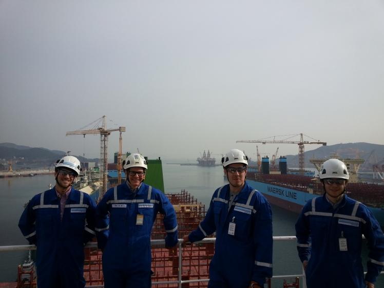 Baugen på containerskipet